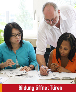 Bildung öffnet Türen, Deutschkurs bei der IG Initiativgruppe