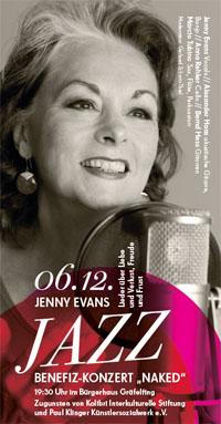 Benefizkonzert Jenny Evans Jazz-Lieder