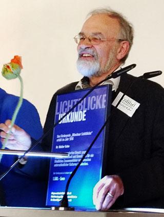 Verleihung der Lichtblicke-Urkunde 2018 für Dr. Walter Kuhn von Kolibri