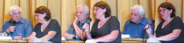 Benefizvortrag für Kolibri, Jutta Neupert im Gespräch mit Prof. Wolfgang Benz