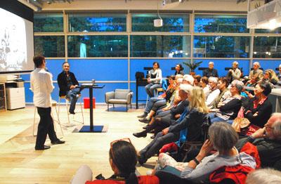 Daniel Speck bei der Lesung seines Romans Piccolo Sicilia im WeWork in München