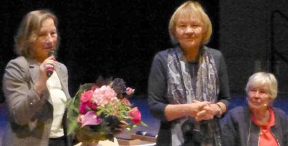 Diana Koch vom Kulturzentrum Milbertshofen, Charlotte Kosean, Kolibri und die Autorin des Film Heike Bretschneider