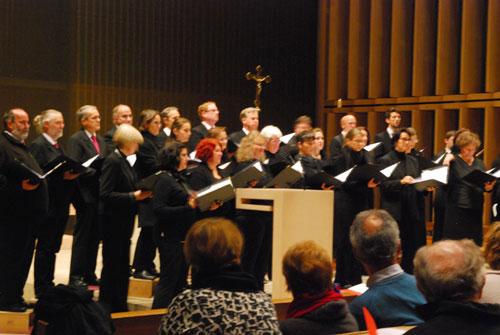 Chor vox nova beim Benefiz-Konzert für Kolibri in der Herz-Jesu-Kirche München