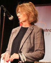 Gesa Tiedemann von der Petra-Kelly-Stiftung