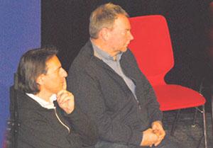 Pippo Pollina und Claus-Peter Reisch, Kapitän der Lifeline