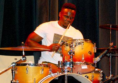 Drummer Brian Kikawa