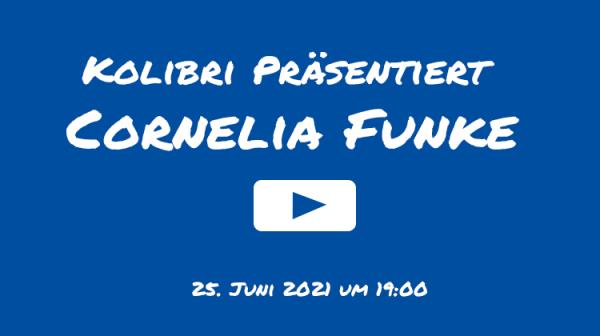 Gespräch mit Cornelia Funke @ Live Stream - Kolibri YouTube Kanal